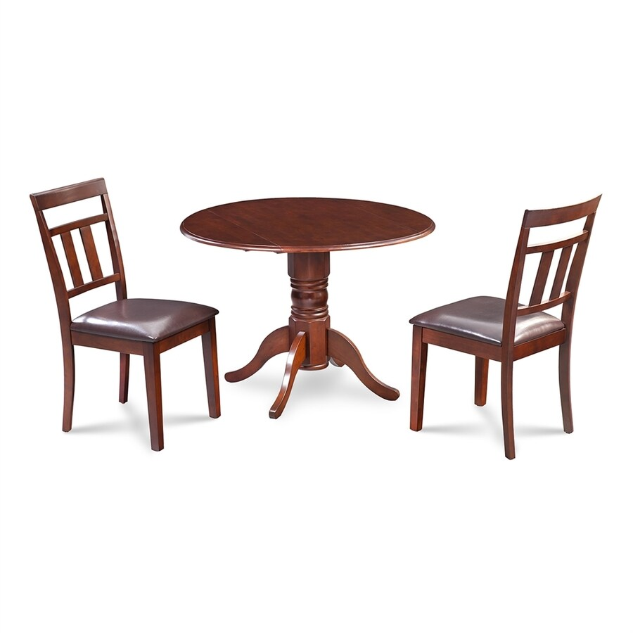 M&D Furniture Burlington Mahogany Dining Set with Round Dining Table
