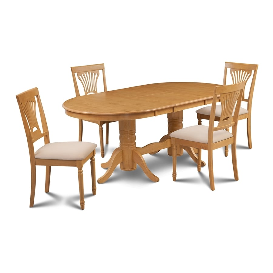 Shop m d furniture somerville oak dining set with oval for M and s dining