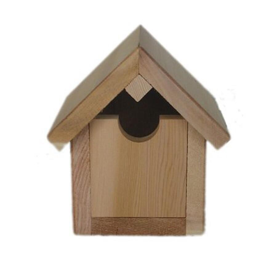 All Things Cedar 8-in W x 5-in H x 7-in D Red Cedar Bird House