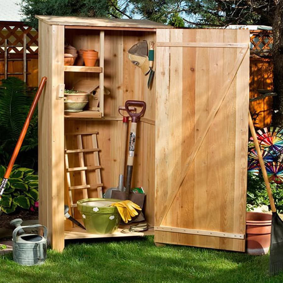 All Things Cedar (Common: 2-ft x 2-ft; Interior Dimensions: 2.04-ft x 1.41 Feet) Lean-To Cedar Wood Storage Shed