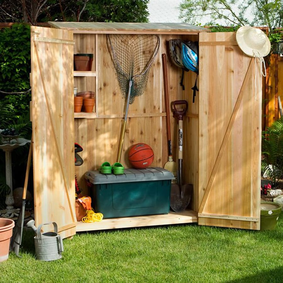 All Things Cedar (Common: 4-ft x 2-ft; Interior Dimensions: 3.875-ft x 1.66 Feet) Lean-To Cedar Wood Storage Shed