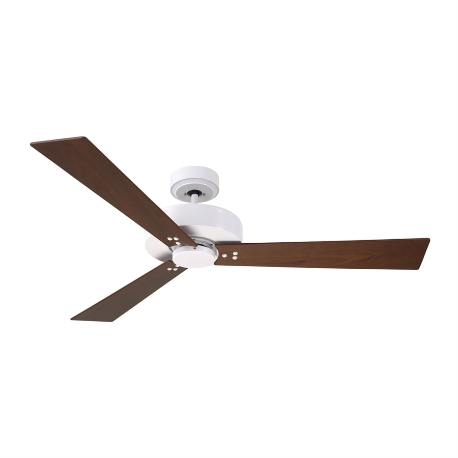 Cascadia Lighting Keane 52-in Satin White Downrod Mount Ceiling Fan with Remote Control (3-Blade)
