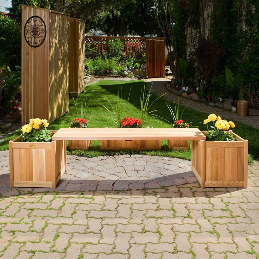 All Things Cedar 13-in W x 60-in L Red Cedar Cedar Patio Bench