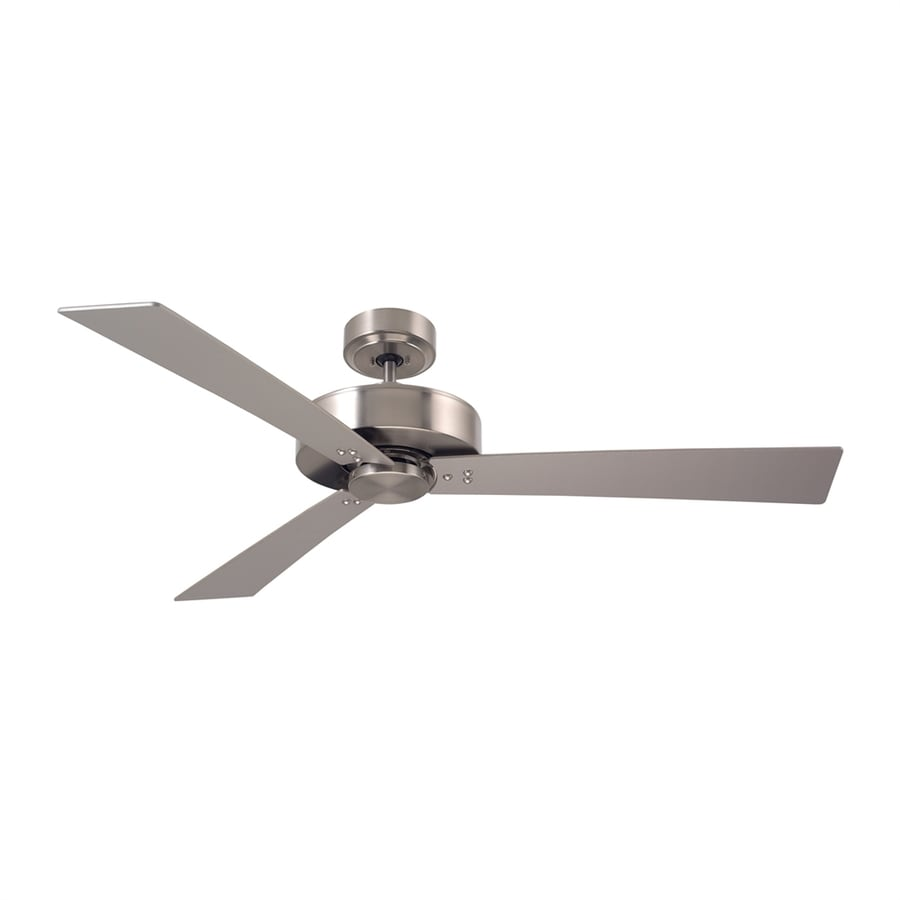 Cascadia Lighting Keane 52-in Brushed Steel Downrod Mount Ceiling Fan with Remote Control (3-Blade)