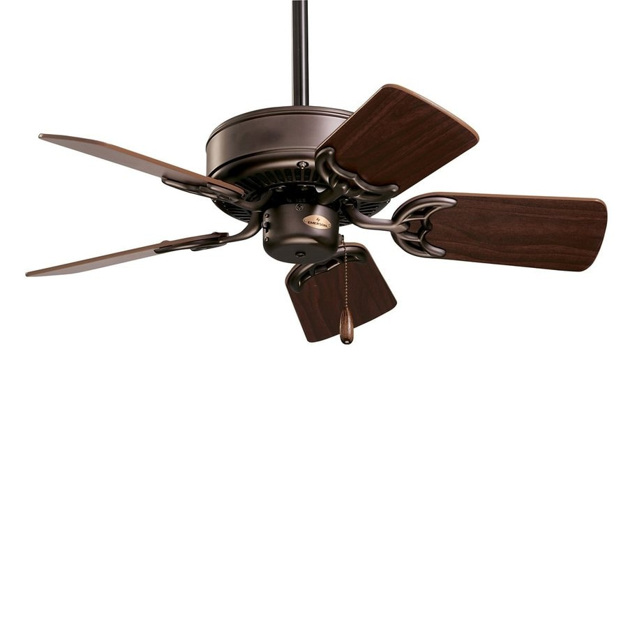 Cascadia Lighting Northwind 29-in Oil Rubbed Bronze Downrod Mount Ceiling Fan Light Kit Adaptable (5-Blade)