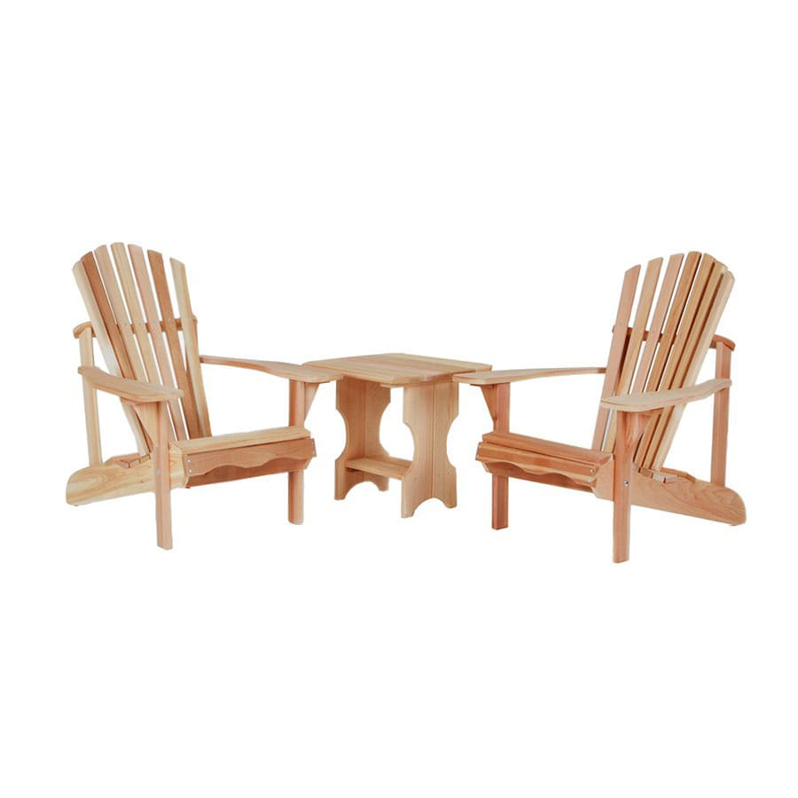 All Things Cedar 3-Piece Cedar Patio Conversation Set