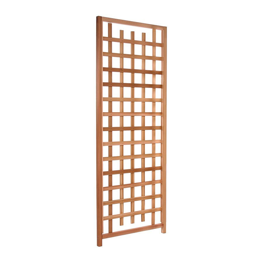Shop All Things Cedar 33 in W x 84 in H Red Cedar Garden Trellis at