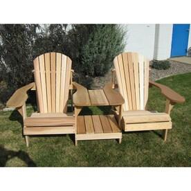 Attirant All Things Cedar Muskoka Set Of 2 Cedar Adirondack Chairs