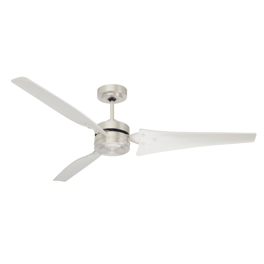 Cascadia Lighting 60-in Brushed Steel Downrod Mount Ceiling Fan (3-Blade) ENERGY STAR