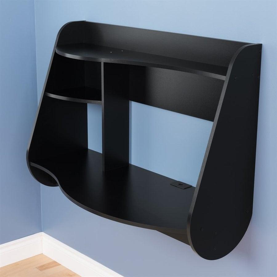 Prepac Furniture Contemporary Black Floating Desk