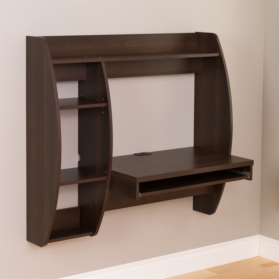 Shop Prepac Furniture Contemporary Espresso Floating Desk