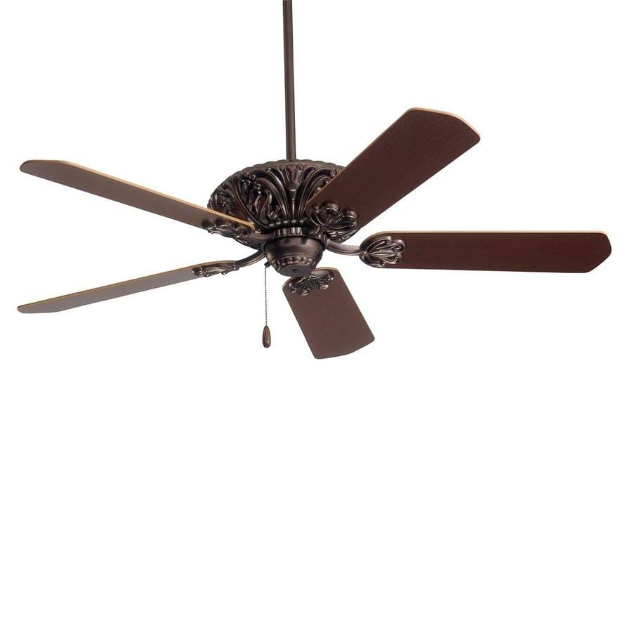 Cascadia Lighting 52-in Oil Rubbed Bronze Downrod Mount Ceiling Fan (5-Blade)