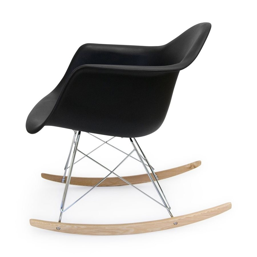 AEON Furniture Dijon Modern Black Matte Rocking Chair