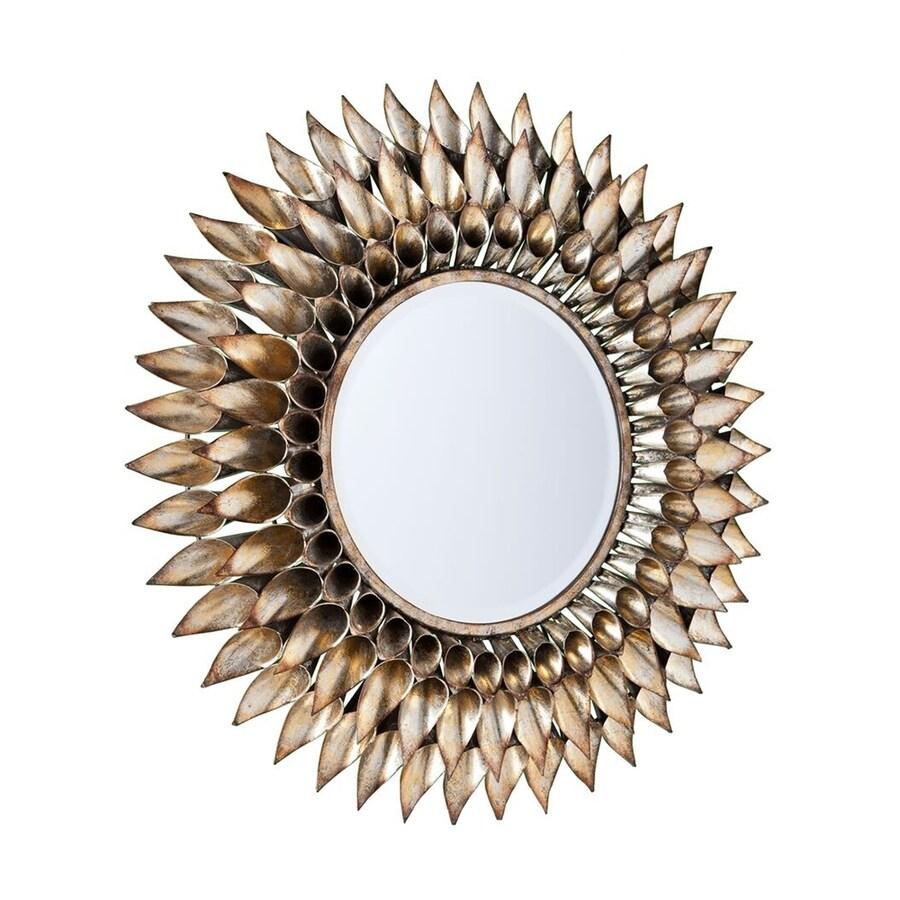 Boston Loft Furnishings Landrie Weathered Silver Beveled Sunburst Wall Mirror