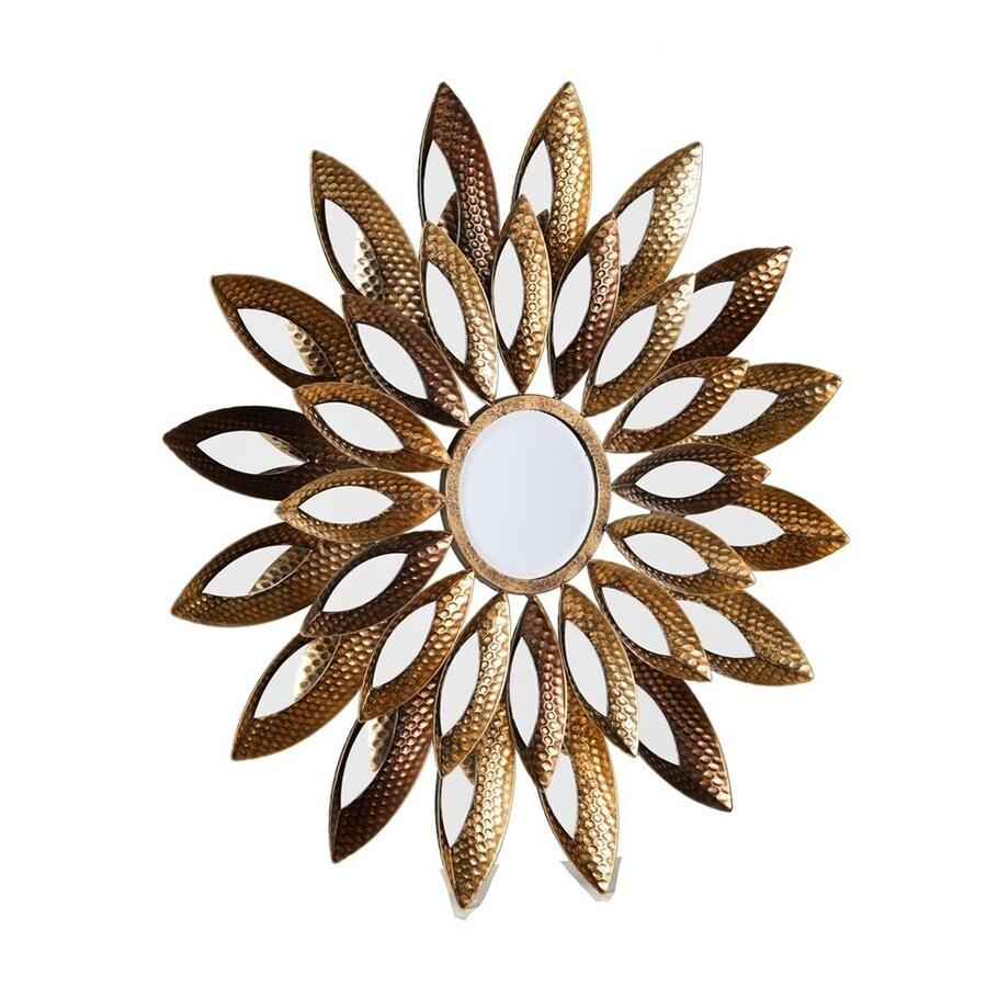 Boston Loft Furnishings Marina Gold Beveled Sunburst Wall Mirror