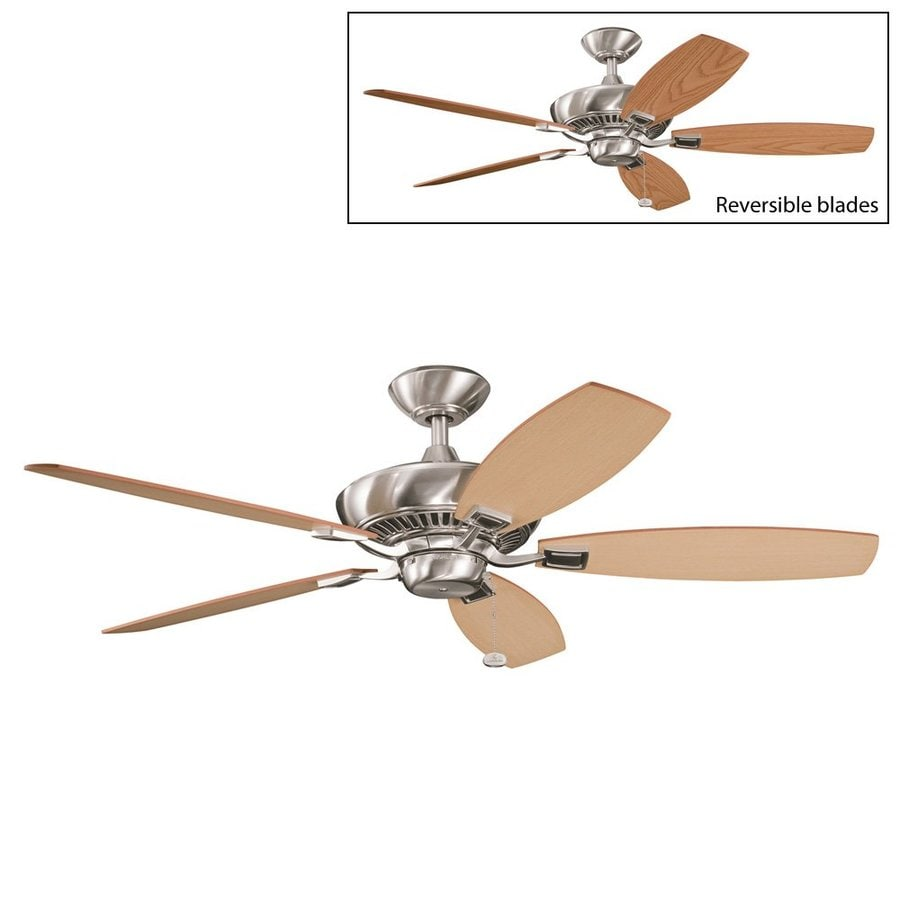 Kichler Canfield 52 In Brushed Steel Indoor Ceiling Fan Energy Star