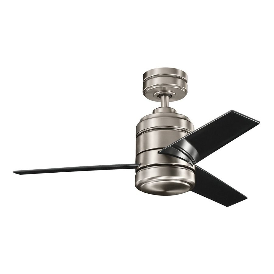 Kichler Arkwright 7-in Antique Pewter Downrod Mount Ceiling Fan Light Kit Adaptable ENERGY STAR