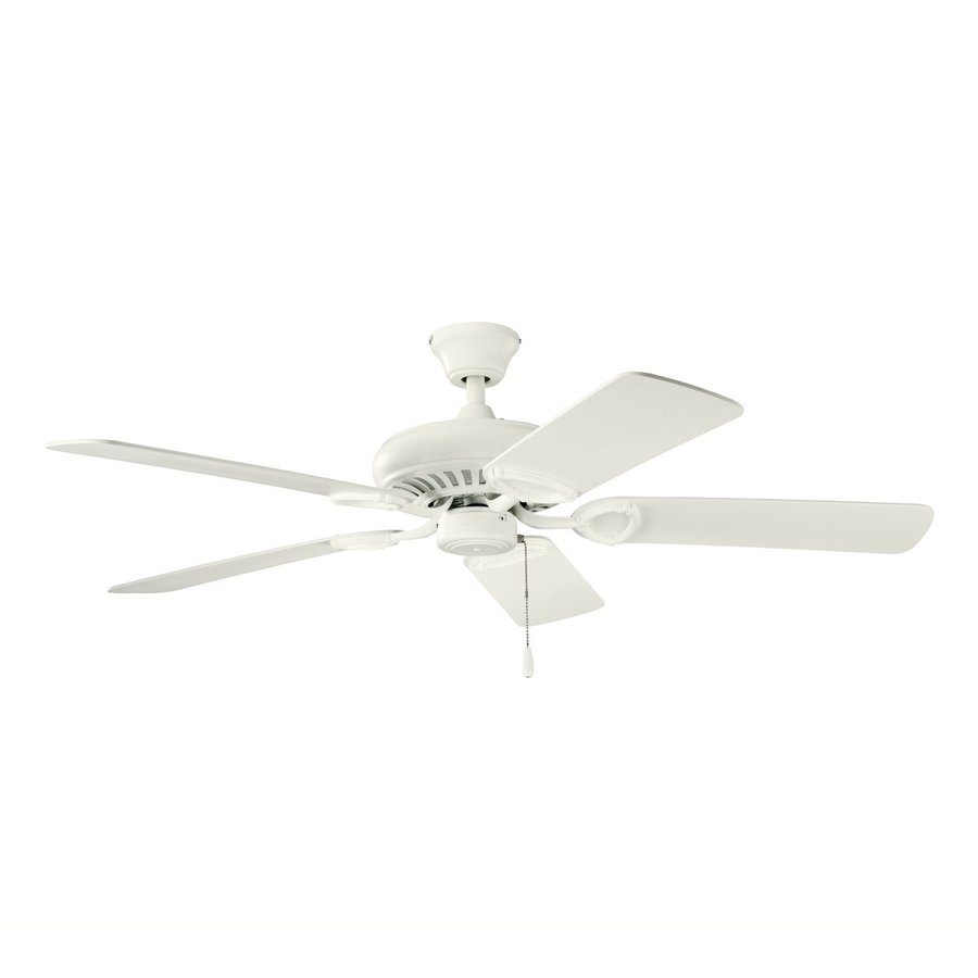 Kichler 52-in Satin Natural White Downrod Mount Ceiling Fan Light Kit Adaptable (5-Blade)