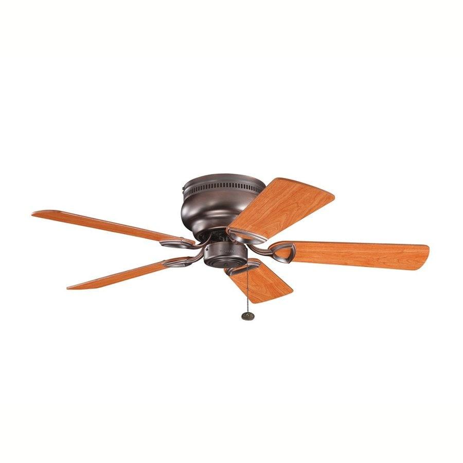 Kichler Stratmoor™ 42-in Oil Brushed Bronze Flush Mount Ceiling Fan (5-Blade)