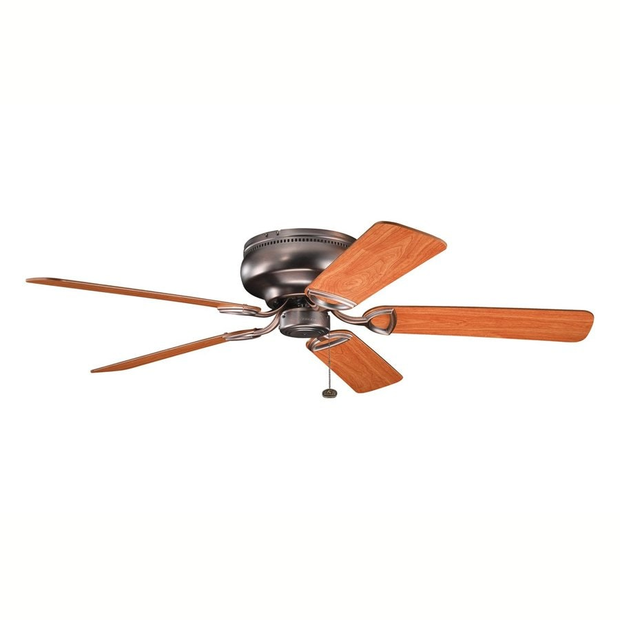 Kichler Stratmoor™ 52-in Oil Brushed Bronze Flush Mount Ceiling Fan (5-Blade)