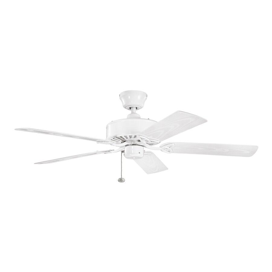 Kichler 52 In White Indoor Outdoor Ceiling Fan Energy Star