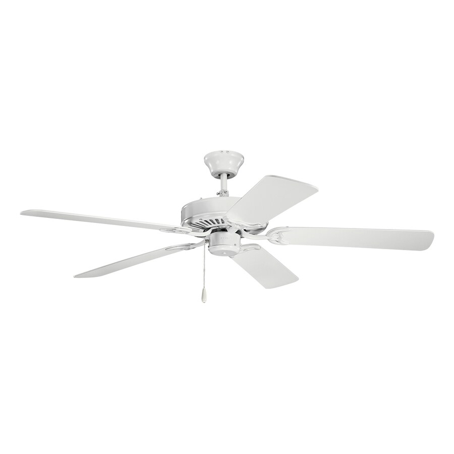 Kichler 52-in White Indoor Residential Downrod or Close Mount Ceiling Fan (5-Blade)
