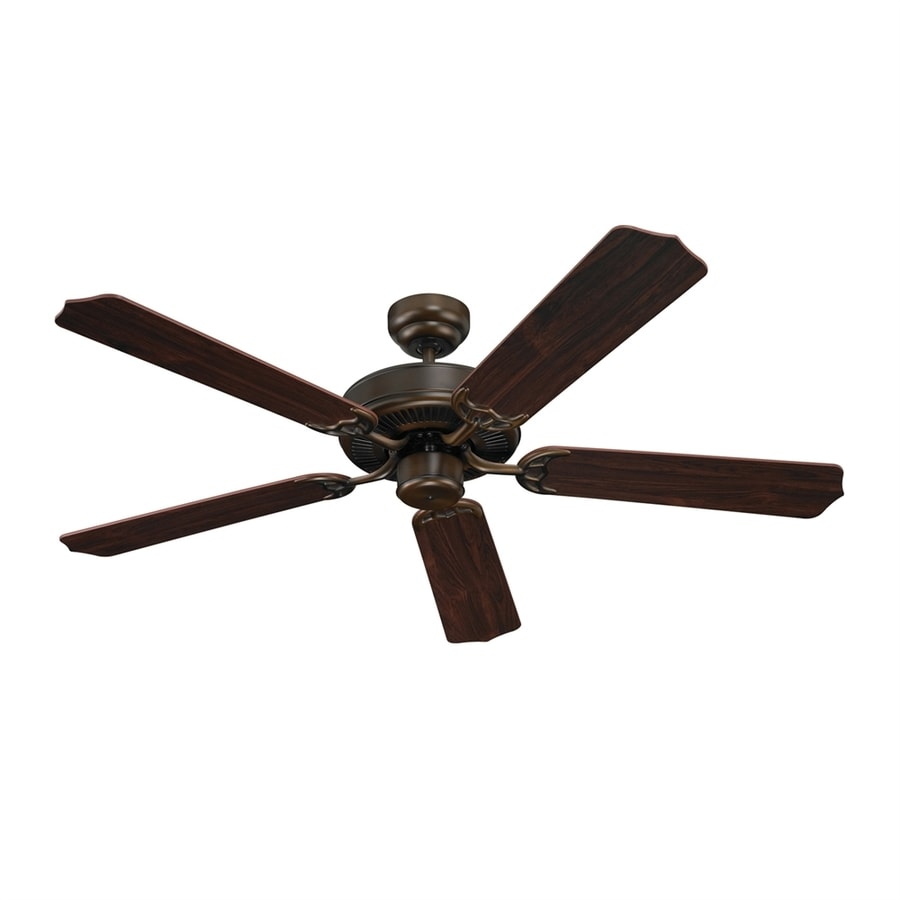 Sea Gull Lighting Quality Max 52-in Russet Bronze Flush Mount Ceiling Fan with Light Kit ENERGY STAR