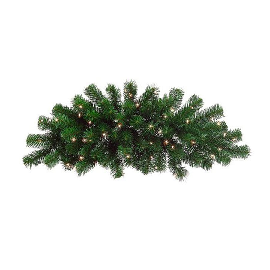 Shop northlight indooroutdoor pre lit 23 ft l windsor pine swag northlight indooroutdoor pre lit 23 ft l windsor pine swag garland with aloadofball Images