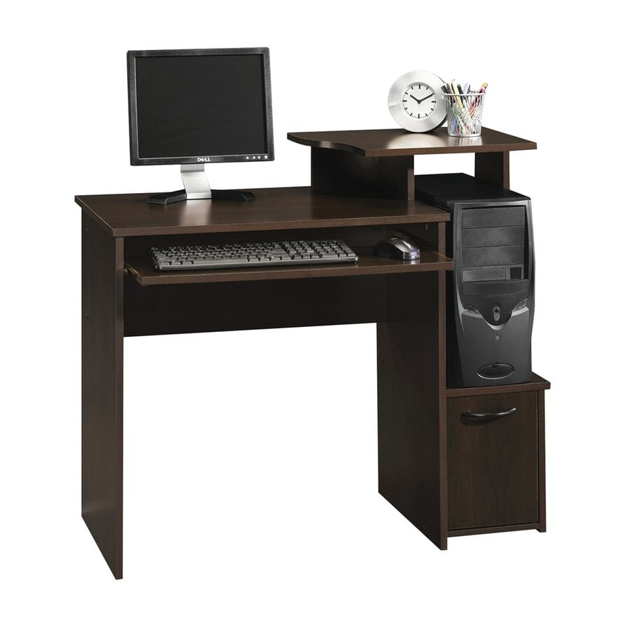 Sauder Beginnings Transitional Cinnamon Cherry Computer Desk