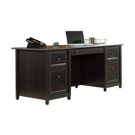 stunning natural brown wooden diy corner desk. Stunning Natural Brown Wooden Diy Corner Desk. Sauder Edge Water Transitional Estate Black Executive Desk A