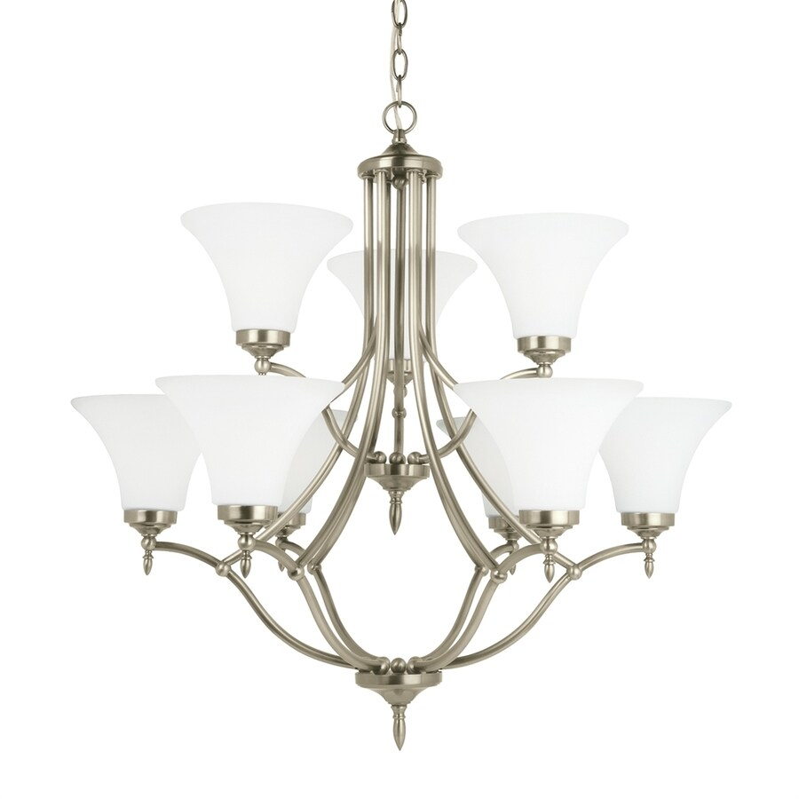 Shop sea gull lighting montreal 30375 in 9 light antique brushed sea gull lighting montreal 30375 in 9 light antique brushed nickel etched glass tiered arubaitofo Images