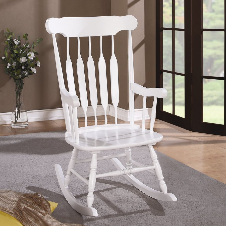 Coaster Fine Furniture Country White Rocking Chair