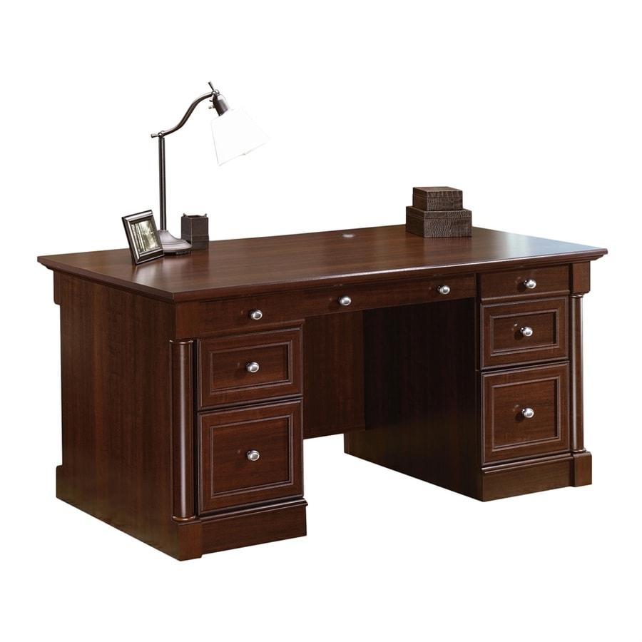Sauder Palladia Traditional Select Cherry Executive Desk