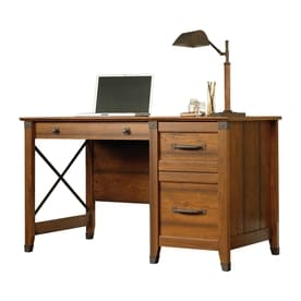 Sauder Carson Forge Transitional Washington Cherry Writing Desk