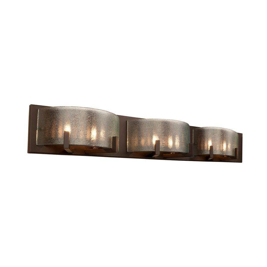 Alternating Current Firefly 3-Light 5-in Warm bronze Rectangle Vanity Light