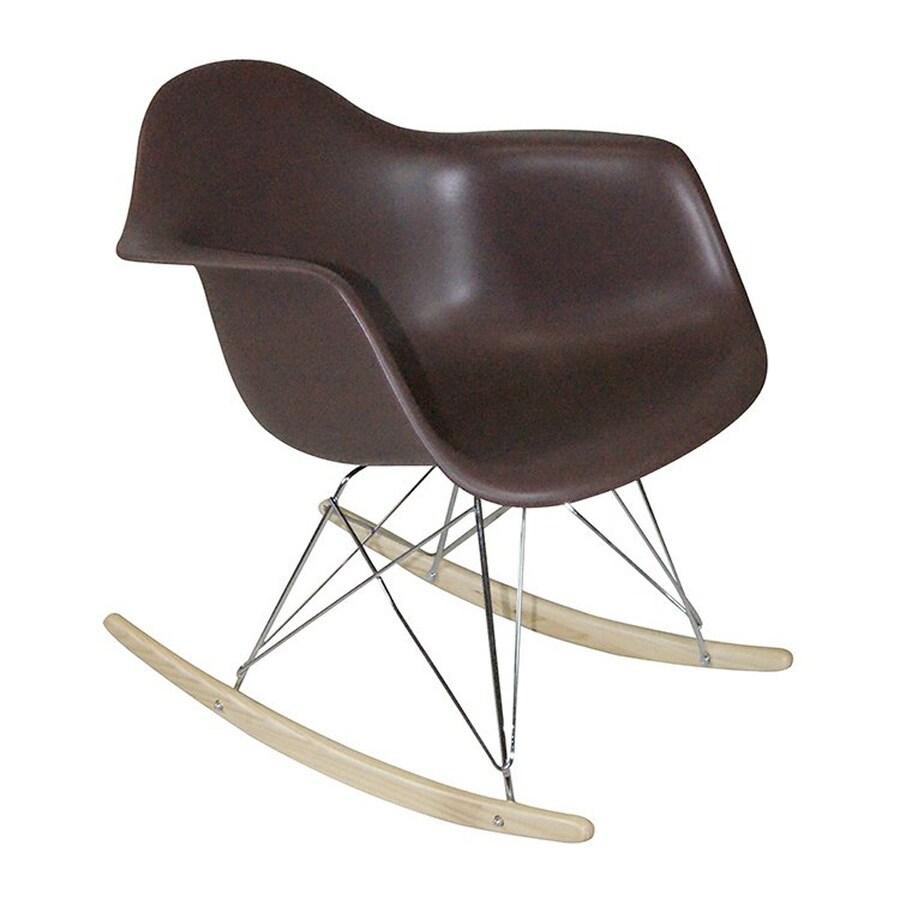 Mod Made Paris Modern Chocolate Rocking Chair