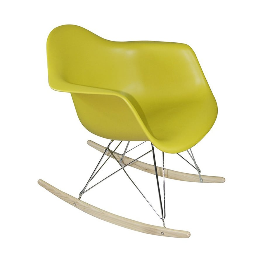 Mod Made Paris Modern Green Rocking Chair