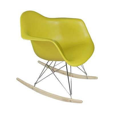 Amazing Mod Made Paris Modern Green Rocking Chair At Lowes Com Lamtechconsult Wood Chair Design Ideas Lamtechconsultcom