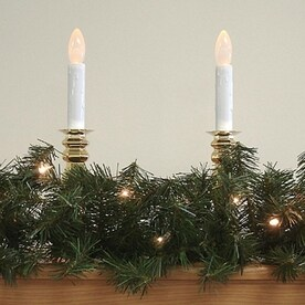 Garland With Lights Outdoor Shop artificial christmas garland at lowes northlight indooroutdoor pre lit 9 ft l canadian pine garland with white workwithnaturefo