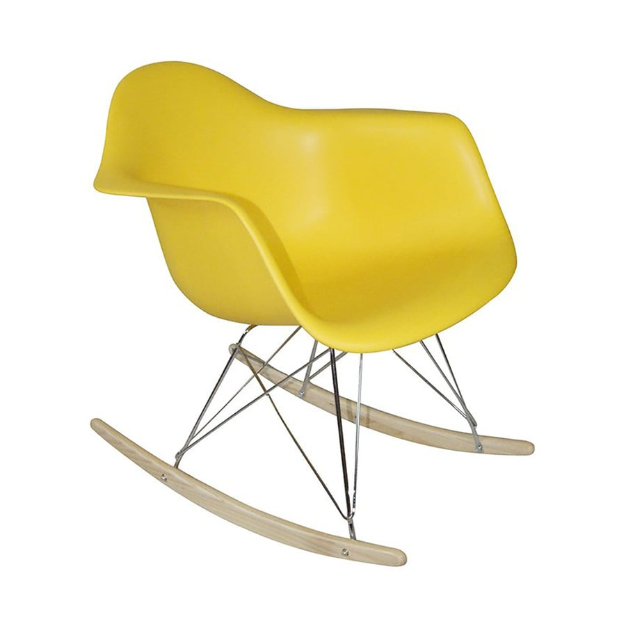 shop mod made paris modern yellow rocking chair at. Black Bedroom Furniture Sets. Home Design Ideas