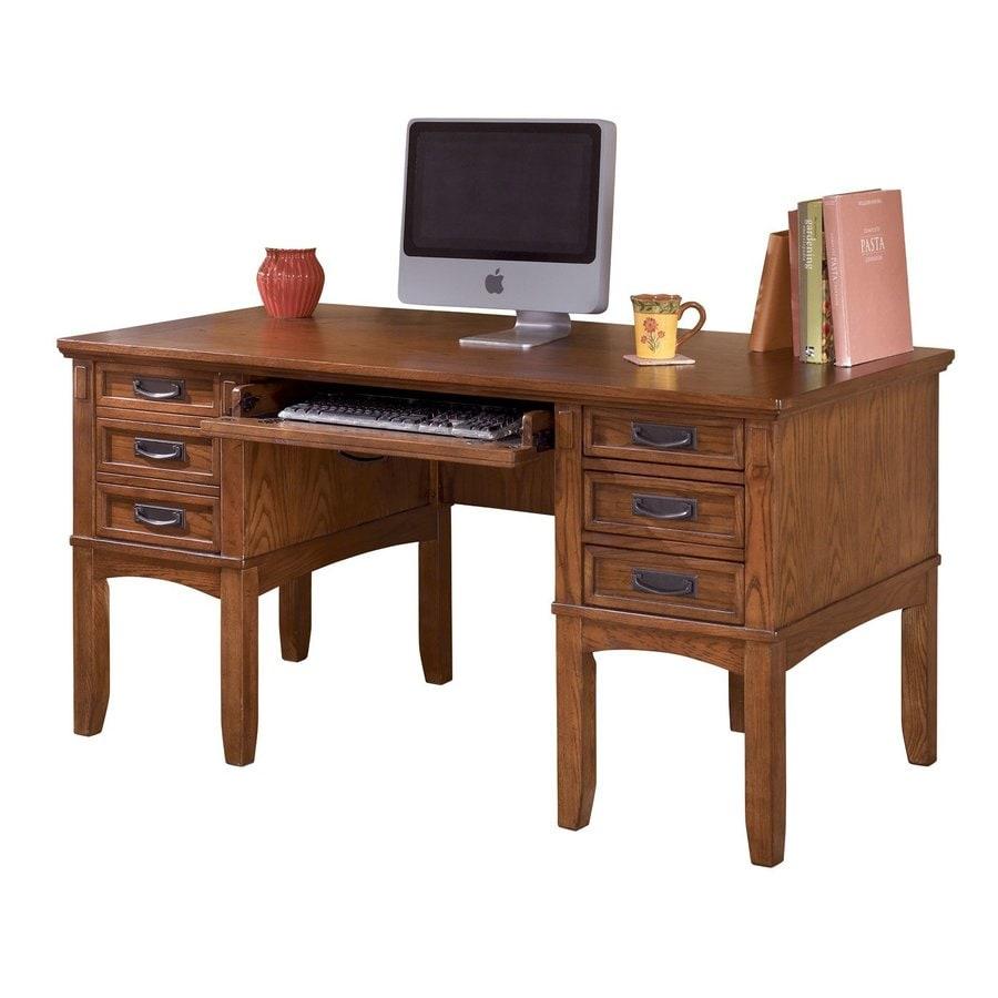 Signature Design by Ashley Cross Island Transitional Medium Brown Oak Computer Desk