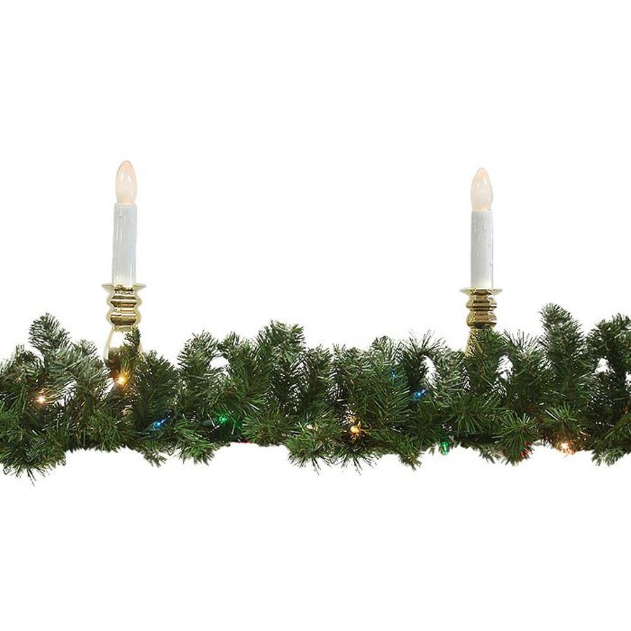 Northlight Indoor/Outdoor Pre-Lit 9-ft L Canadian Pine Garland with Multicolor Incandescent Lights
