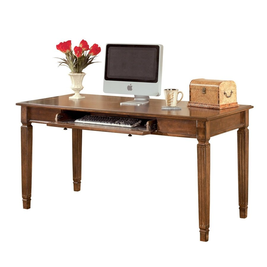 Signature Design by Ashley Hamlyn Traditional Medium Brown Computer Desk at Lowes.com