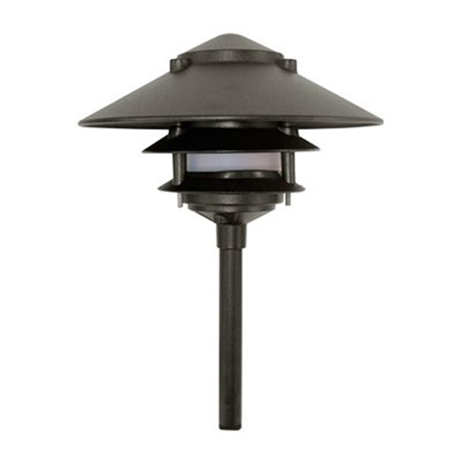 Shop dabmar lighting 20 watt black low voltage halogen for Low voltage walkway lighting sets