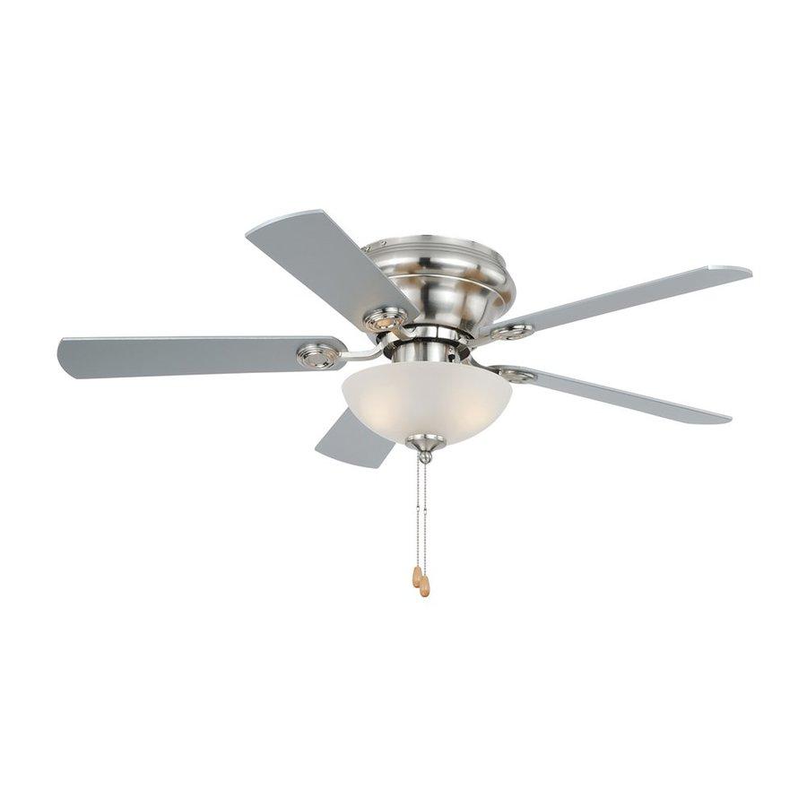 Cascadia Lighting 42 In Satin Nickel Indoor Flush Mount Ceiling Fan With Light Kit