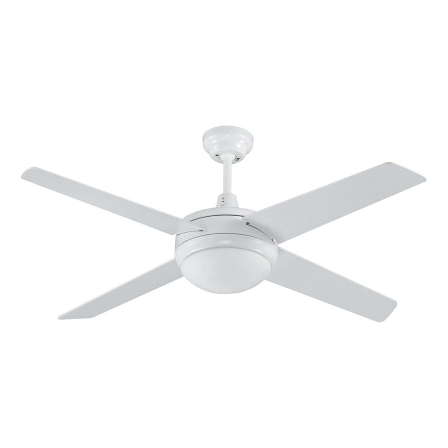 Royal Pacific Europa 50 In White Standard Downrod Mount Ceiling Fan With Light Kit