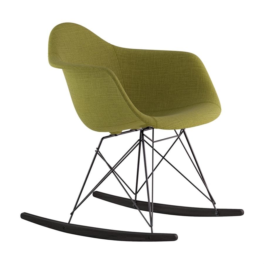 NyeKoncept Midcentury Avocado Green/Black/Brushed Gunmetal Polyester Rocking Chair
