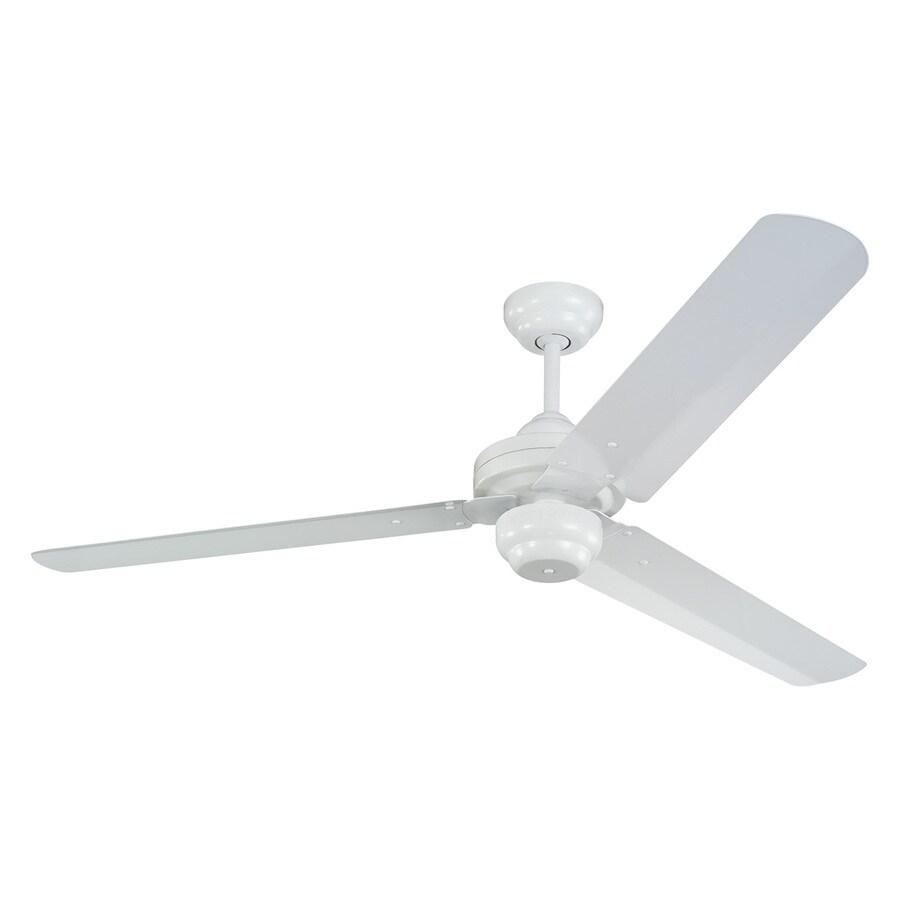 Monte Carlo Fan Company Studio 54-in White Downrod Mount Ceiling Fan Light Kit Adaptable (3-Blade) ENERGY STAR