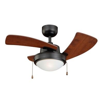 Bronze Indoor Downrod Ceiling Fan