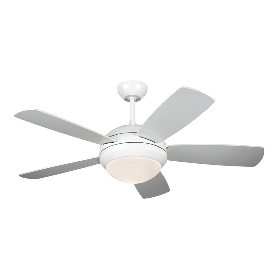 Shop Monte Carlo Fan Company Discus 44-in White Downrod